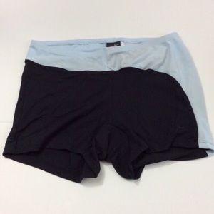 Nike dri-fit black & blue shorts size M